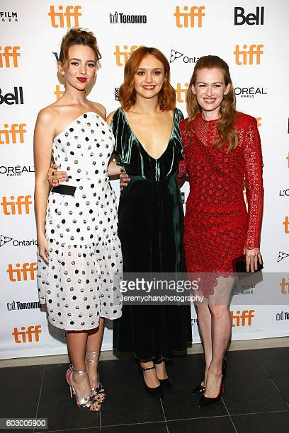 Actors Natasha Bassett Olivia Cooke and Mireille Enos attend the Katie Says Goodbye premiere held at TIFF Bell Lightbox during the Toronto...