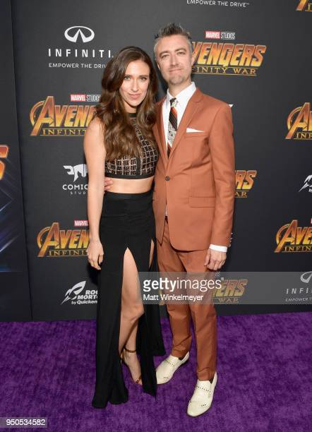 Actors Natasha Halevi and Sean Gunn attends the Los Angeles Global Premiere for Marvel Studios' Avengers Infinity War on April 23 2018 in Hollywood...