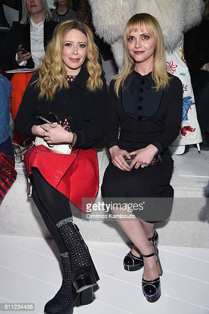 Actors Natasha Lyonne and Christina Ricci attend the Marc Jacobs Fall 2016 fashion show during New York Fashion Week at Park Avenue Armory on...