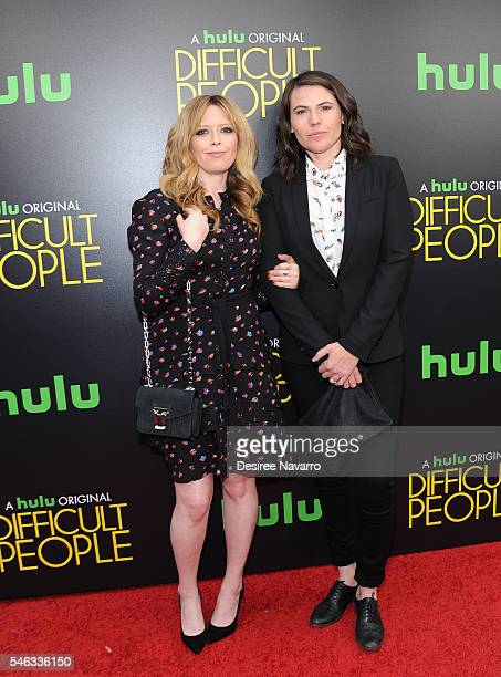 Actors Natasha Lyonne and Clea DuVall attend 'Difficult People' New York Premiere at The Metrograph on July 11 2016 in New York City