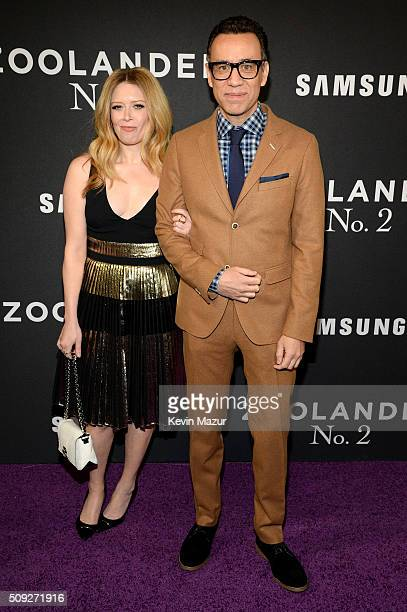 Actors Natasha Lyonne and Fred Armisen attend the 'Zoolander 2' World Premiere at Alice Tully Hall on February 9 2016 in New York City