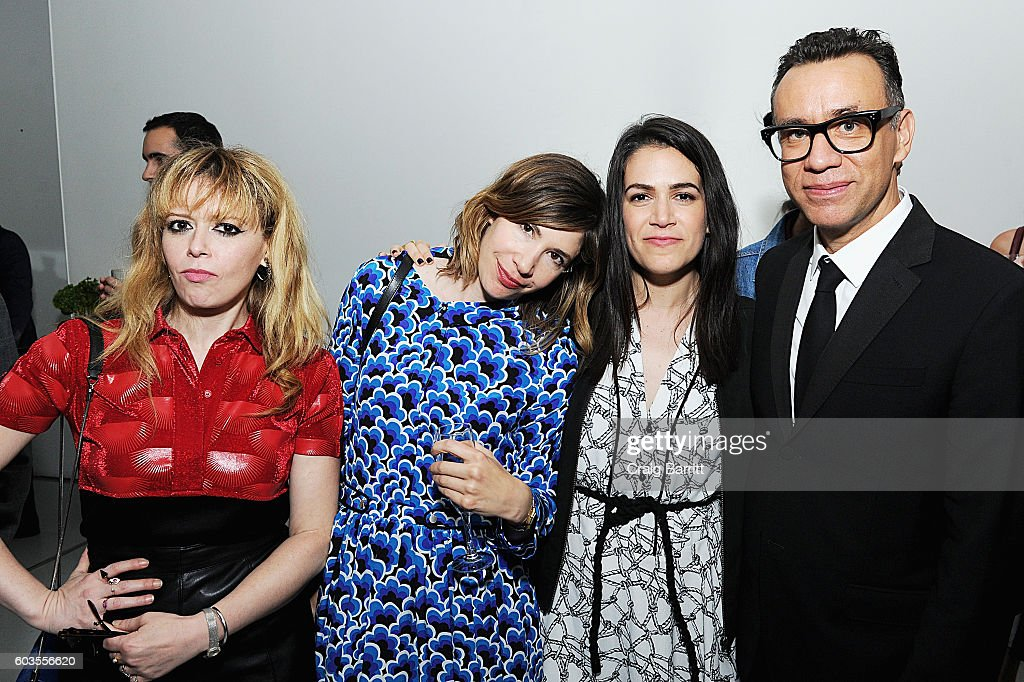Actors Natasha Lyonne, Carrie Brownstein, Abbi Jacobson and Fred Armisen attend as IFC, New York Magazine and Vulture host the premiere of 'Documentary Now' at the New Museum on September 12, 2016 in New York City.