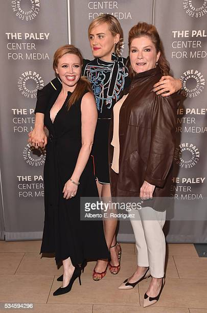 Actors Natasha Lyonne Taylor Schilling and Kate Mulgrew attend PaleyLive LA An Evening With Orange Is The New Black at The Paley Center for Media on...