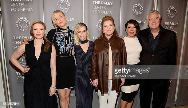 Actors Natasha Lyonne Taylor Schilling Taryn Manning Kate Mulgrew Selenis Leyva and Michael Harney attend The Paley Center For Media Presents An...