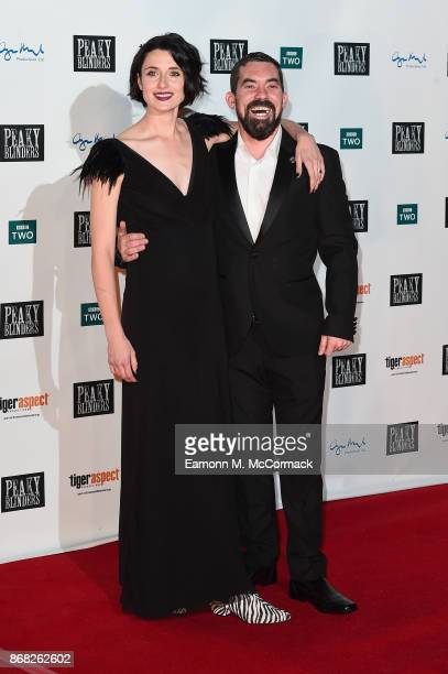 Actors Natasha O'Keeffe and Packy Lee attend the Birmingham Premiere of Peaky Blinders at cineworld on October 30 2017 in Birmingham England