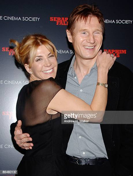 Actors Natasha Richardson and Liam Neeson attend a special screening of Seraphim Falls hosted by The Cinema Society at the Tribeca Grand Hotel on...