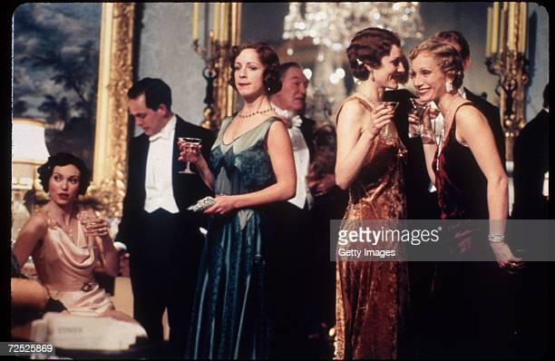 Actors Natasha Wightman, Tom Hollander, Claudie Blakley, Michael Gambon, Geraldine Somerville and Kristen Scott Thomas appear in a scene from the...