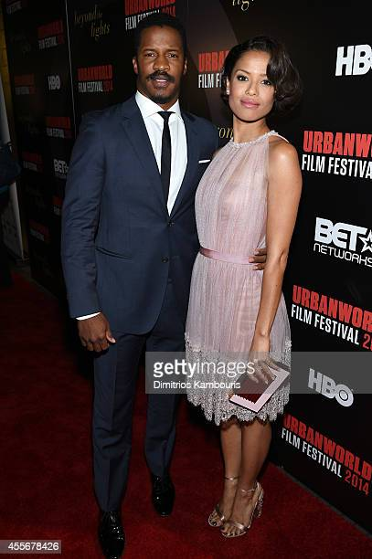 Actors Nate Parker and Gugu MbathaRaw attend BEYOND THE LIGHTS opening The Urbanworld Film Festival at SVA Theater on September 18 2014 in New York...