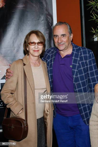 Actors Nathalie Baye and Antoine Dulery attend the 'La tete dans les etoiles' Theater play at Theatre de la Gaite Montparnasse on May 24 2018 in...