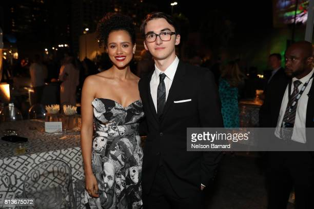 Actors Nathalie Emmanuel and Isaac Hempstead attend the Premiere of HBO's 'Game Of Thrones' Season 7 after party at Walt Disney Concert Hall on July...