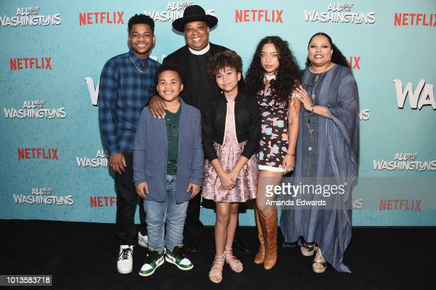 Actors Nathan Anderson Maceo Smedley Rev Run Leah Rose Randall Kiana Lede and Justine Simmons arrive at a screening of Netflix's All About The...