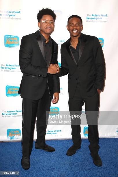 Actors Nathan Davis Jr and Malcolm David Kelley attend The Actors Fund's 2017 Looking Ahead Awards honoring the youth cast of NBC's 'This Is Us' at...