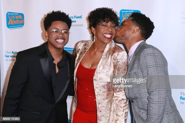 Actors Nathan Davis Jr Dawnn Lewis and Jacob Latimore attends The Actors Fund's 2017 Looking Ahead Awards Honoring The Youth Cast Of NBC's 'This Is...