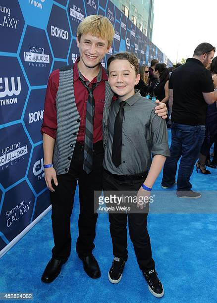 Actors Nathan Gamble and Benjamin Stockham attend the 2014 Young Hollywood Awards brought to you by Samsung Galaxy at The Wiltern on July 27 2014 in...