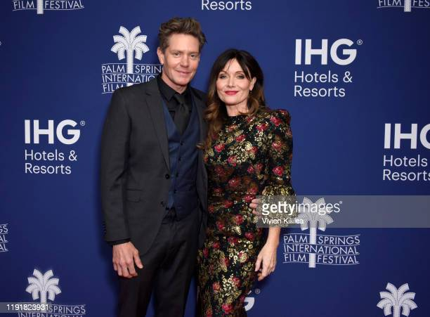 Actors Nathan Page and Essie Davis attend a screening of Miss Fisher and the Crypt of Tears at the 31st Annual Palm Springs International Film...