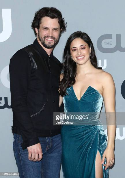 Actors Nathan Parsons and Jeanine Mason attend the 2018 CW Network Upfront at The London Hotel on May 17 2018 in New York City