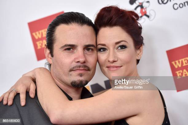 Actors Nathan West and Chyler Leigh arrive at the 2017 GLSEN Respect Awards at the Beverly Wilshire Four Seasons Hotel on October 20 2017 in Beverly...
