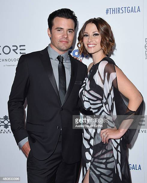 Actors Nathan West and Chyler Leigh arrive at the 6th Annual Thirst Gala at The Beverly Hilton Hotel on June 30 2015 in Beverly Hills California