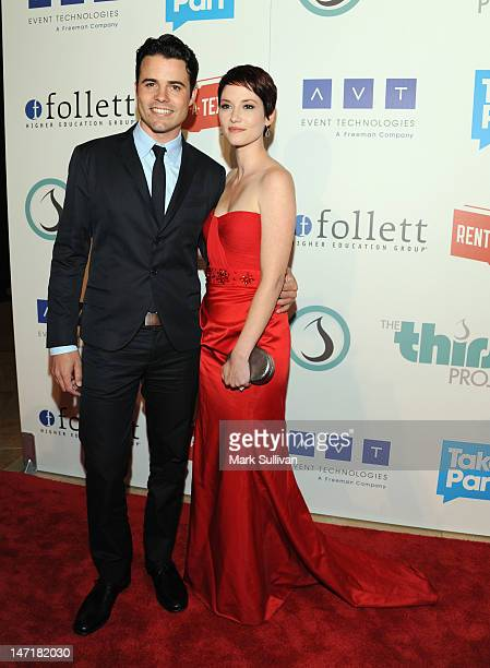 Actors Nathan West and Chyler Leigh attend The Thirst Project 3rd Annual Gala at The Beverly Hilton Hotel on June 26 2012 in Beverly Hills California