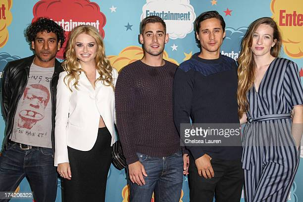 Actors Naveen Andrews Emma Rigby Michael Socha Peter Gadiot and Sophie Lowe arrive at Entertainment Weekly's annual ComicCon celebration at Float at...
