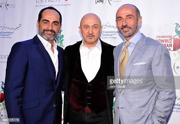 Actors Navid Negahban David Diaan and Shaun Toub attend the 6th Annual Farhang Foundation's Short Film Festival award ceremony and reception at LACMA...