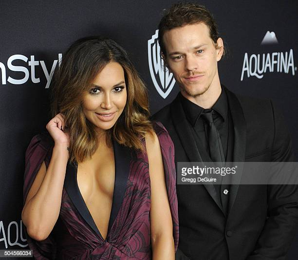 Actors Naya Rivera and husband Ryan Dorsey arrive at the 2016 InStyle And Warner Bros 73rd Annual Golden Globe Awards PostParty at The Beverly Hilton...