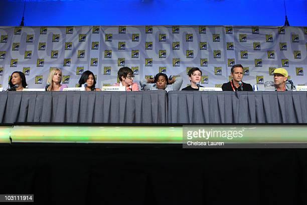 Actors Naya Rivera, Heather Morris, Jenna Ushkowitz, Kevin McHale, Amber Riley, Chris Colfer, co-creator Ryan Murphy and producer Brad Falchuk...
