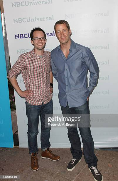 Actors Neil Grayston and Colin Ferguson arrives at the NBCUniversal summer press day held at The Langham Huntington Hotel and Spa on April 18 2012 in...