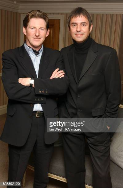 Actors Neil Morrissey and Adrian Dunbar arrive for the UK film premiere of their new film Triggermen at the Charlotte Street Hotel in central London
