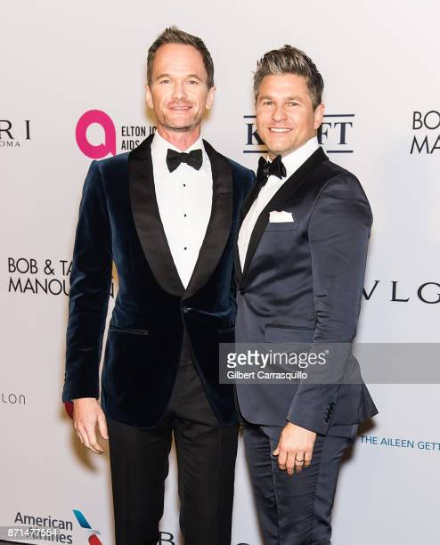 Actors Neil Patrick Harris and David Burtka attend as the Elton John AIDS Foundation commemorates its 25th year and honors founder Sir Elton John...