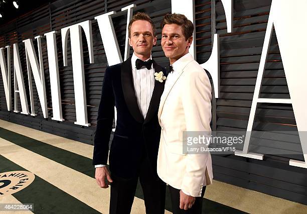 Actors Neil Patrick Harris and David Burtka attend the 2015 Vanity Fair Oscar Party hosted by Graydon Carter at the Wallis Annenberg Center for the...