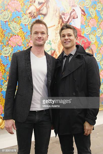 Actors Neil Patrick Harris and David Burtka attend the 2016 Armory Show and Armory Arts Week at Piers 92 and 94 on March 2, 2016 in New York City.