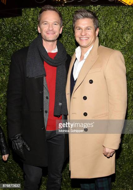 Actors Neil Patrick Harris and David Burtka attend the 2017 Saks Fifth Avenue Holiday Window Unveiling And Light Show at Saks Fifth Avenue on...
