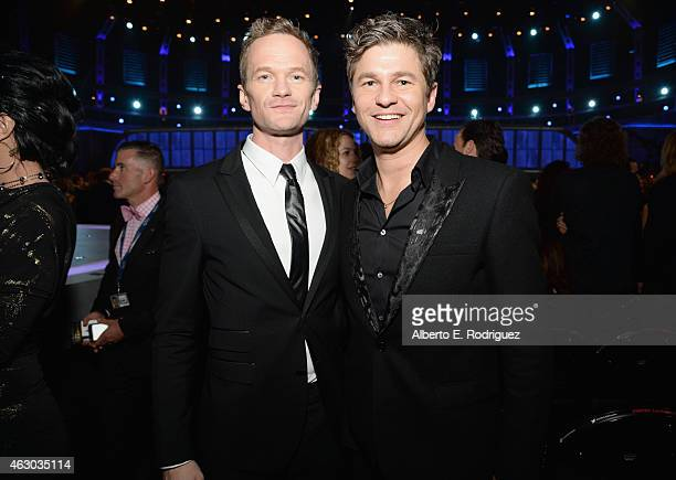 Actors Neil Patrick Harris and David Burtka attend The 57th Annual GRAMMY Awards at STAPLES Center on February 8, 2015 in Los Angeles, California.