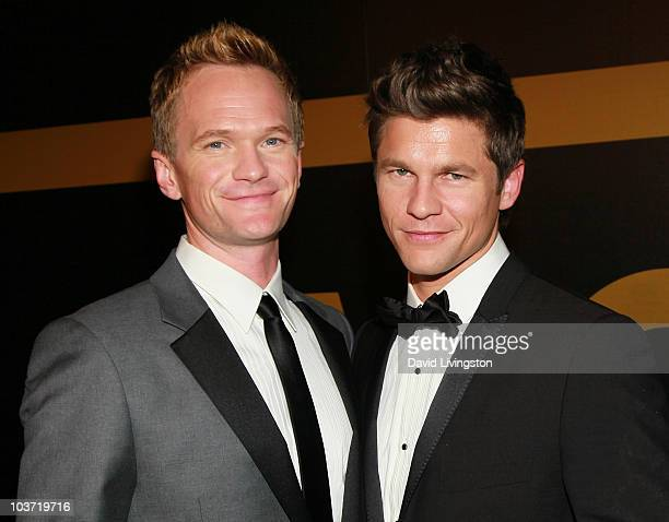 Actors Neil Patrick Harris and David Burtka attend the AMC After Party for the 62nd Annual EMMY Awards at Soho House on August 29 2010 in West...