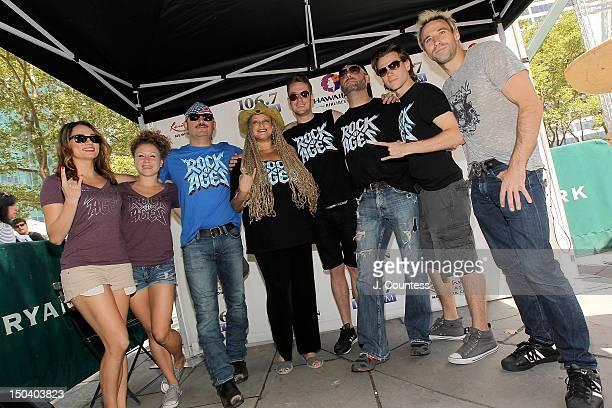 Actors Neka Zang Josephine Rose Roberts Genson Blimline Cody Scott Lancaster Adam Danheisser Justin Sargent and Joey Calveri and The cast of Rock of...