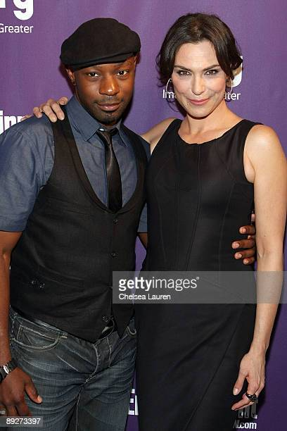 Actors Nelsan Ellis and Michelle Forbes attend the Entertainment Weekly and Syfy party celebrating ComicCon at Hotel Solamar on July 25 2009 in San...