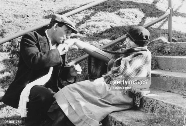 Actors Nerys Hughes and John Ogwen in a scene from the television series 'The District Nurse' April 15th 1983