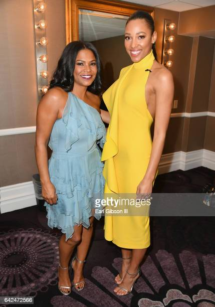 Actors Nia Long and Kylie Bunbury attend BET Presents the American Black Film Festival Honors on February 17 2017 in Beverly Hills California