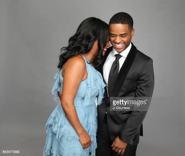 Actors Nia Long and Larenz Tate pose for a portrait for BET's 2017 American Black Film Festival Honors Awards at The Beverly Hilton Hotel on February...
