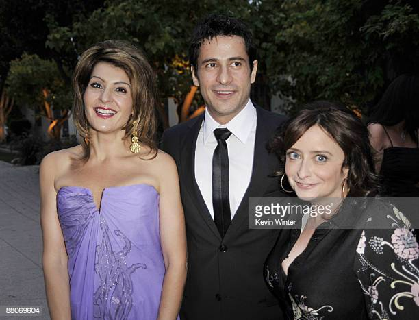 Actors Nia Vardalos Alexis Georgoulis and Rachel Dratch pose at the premiere of Fox Searchlight's My Life in Ruins at the Zanuck Theater on May 29...