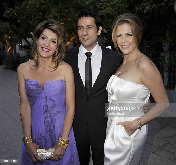 Actors Nia Vardalos Alexis Georgoulis and Rita Wilson pose at the premiere of Fox Searchlight's My Life in Ruins at the Zanuck Theater on May 29 2009...