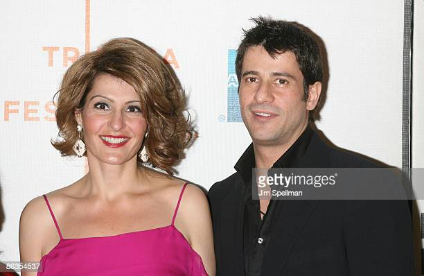 "Actors Nia Vardalos and Alexis Georgoulis attend the premiere of ""My Life in Ruins"" during the 8th Annual Tribeca Film Festival at BMCC Tribeca..."