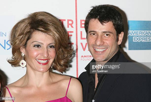 Actors Nia Vardalos and Alexis Georgoulis attend the premiere of 'My Life in Ruins' during the 8th Annual Tribeca Film Festival at BMCC Tribeca...