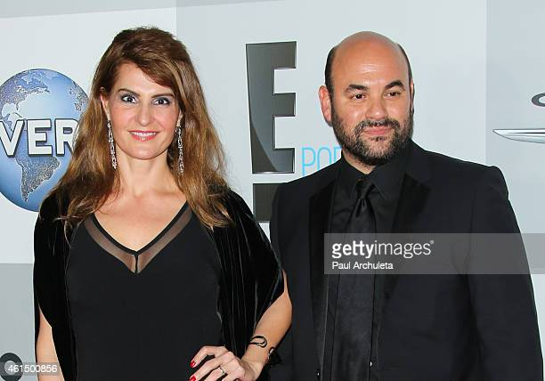Actors Nia Vardalos and Ian Gomez attend NBCUniversal's after party for the 72nd annual Golden Globes Awards at The Beverly Hilton Hotel on January...
