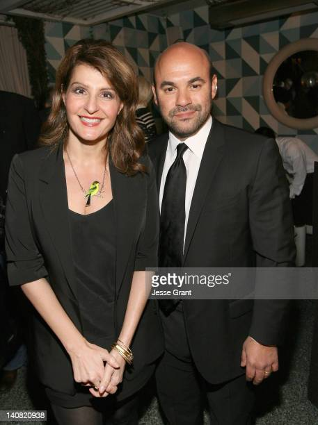 Actors Nia Vardalos and Ian Gomez attend the Canadian Film Centre cocktail reception celebrating strong US/Canadian partnerships at Avalon Hotel on...