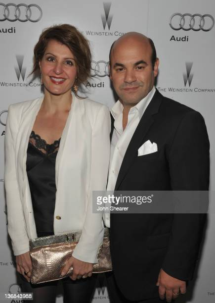 Actors Nia Vardalos and Ian Gomez attends the party hosted by the Weinstein Company and Audi to Celebrate Awards Season at Chateau Marmont on January...