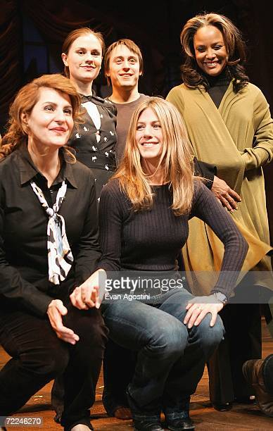 Actors Nia Vardalos Anna Paquin Kieran Culkin Jennifer Aniston and Lynn Whitfield take a curtain call onstage at the 6th Annual 24 Hour Plays on...