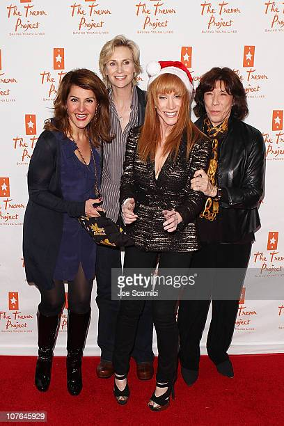 Actors Nia Vardalos, Jane Lynch, Kathy Griffin and Lily Tomlin arrive to Kathy Griffin In Concert at Gibson Amphitheatre on December 16, 2010 in...