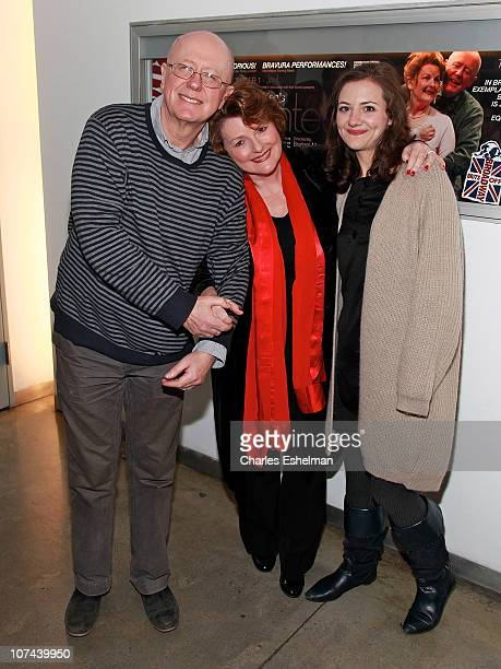 Actors Niall Buggy Brenda Blethyn and Beth Cooke attend the opening night of Haunted at 59E59 Theaters on December 8 2010 in New York City